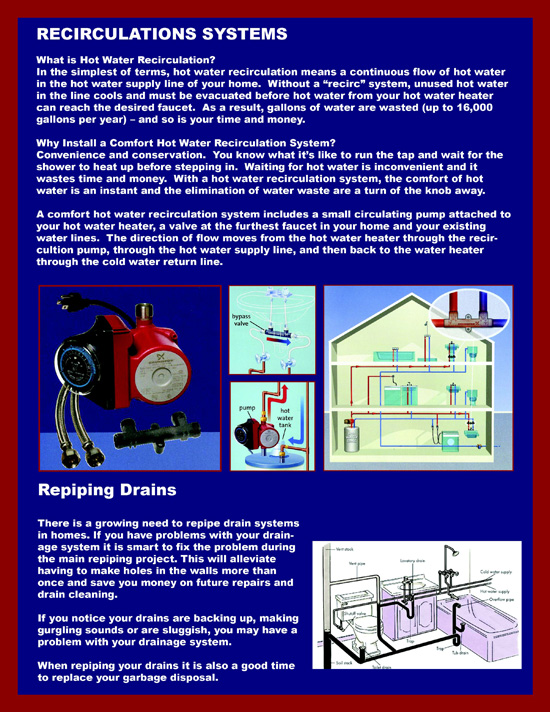 Plumbing Options and Upgrades